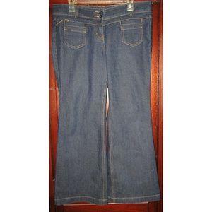 NY & Co.12 Petite Blue Jeans Denim Flare Low Rise